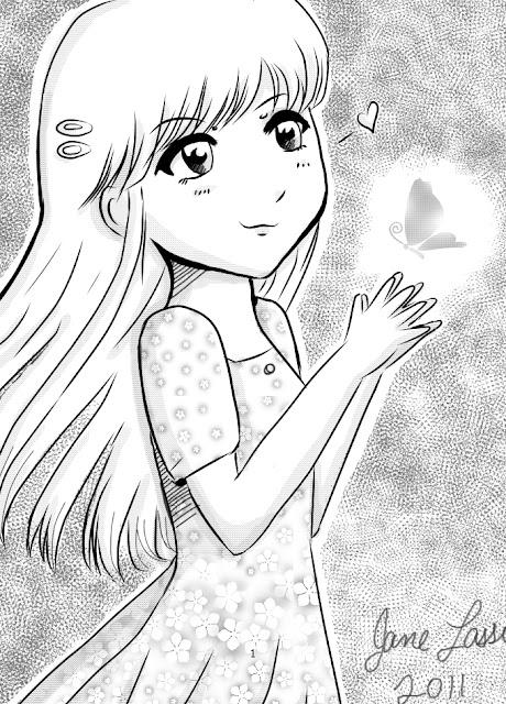 Niña manga dibujada en manga studio 4