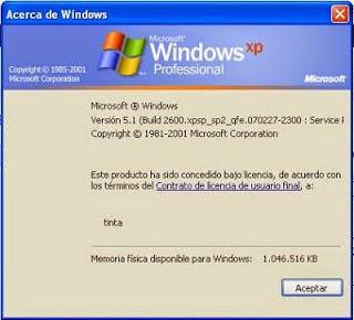 windows xp information