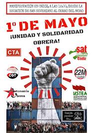 Cartel del 1º de Mayo 2017 ¡UNIDAD Y SOLIDARIDAD OBRERA!