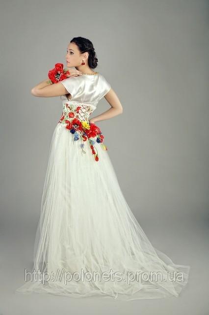 Весільне плаття в народному стилі від Оксани Полонець, Україна
