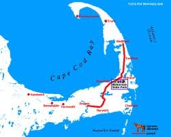 Photo of a map of the Cape Cod Rail Trail