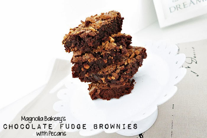 Magnolia Bakery's Chocolate Fudge Brownies with Pecans