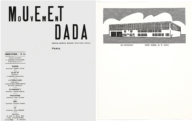 Mouvement Dada Roy Lichtenstein letterhead