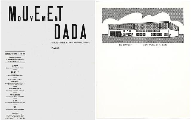 Mouvement Dada Roy Lichtenstein letterhead