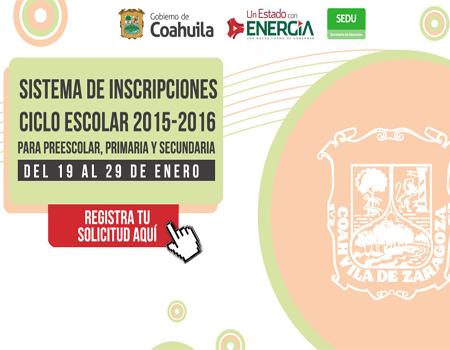 ... al sistema SEDU Preescolar, Primaria y Secundaria Secundaria 2015-2016