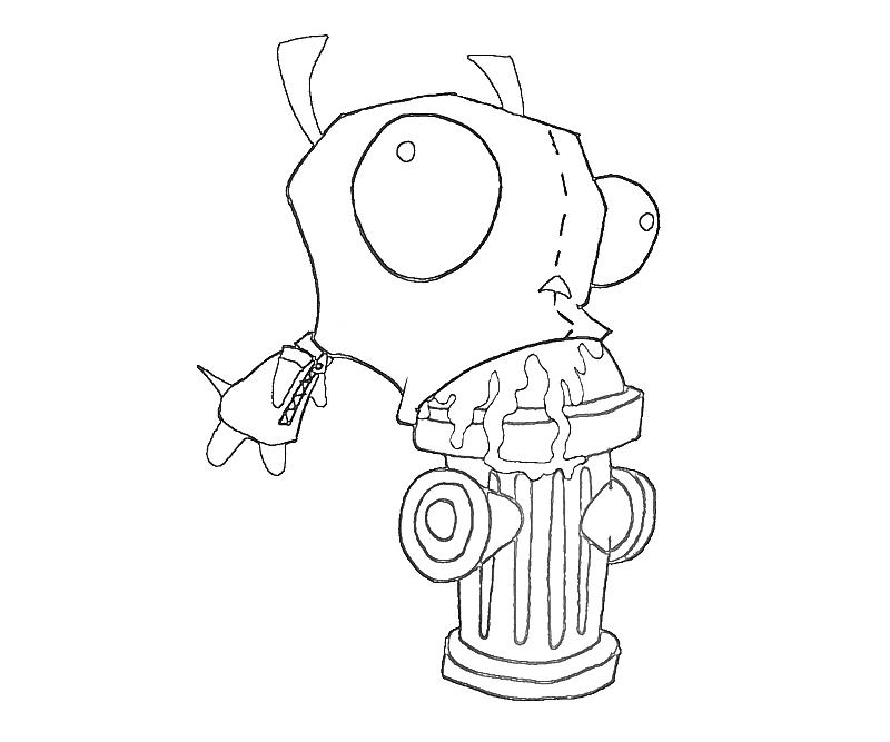 printable-invader-zim-eat-coloring-pages