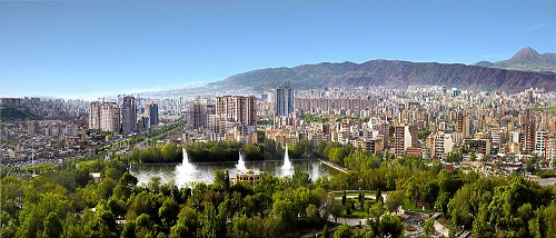 Panoramic view of Tabriz from El Goli; Source Wikipedia