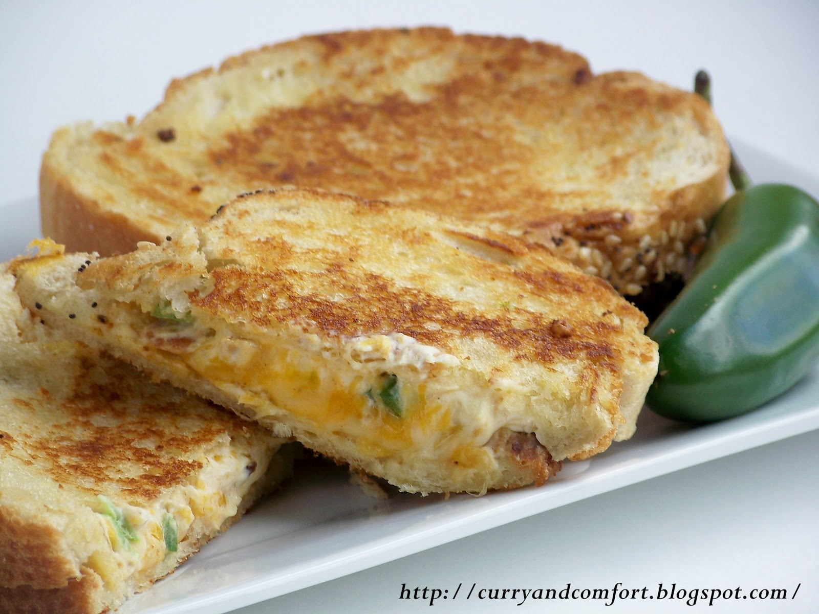 Jalapeno Popper Bacon Grilled Cheese
