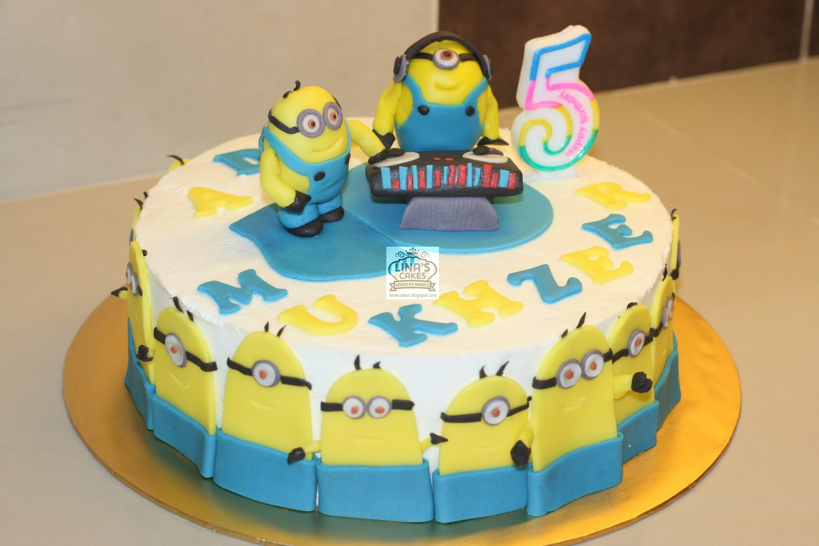 LinasCakes Baked by Angels Minion birthday cake