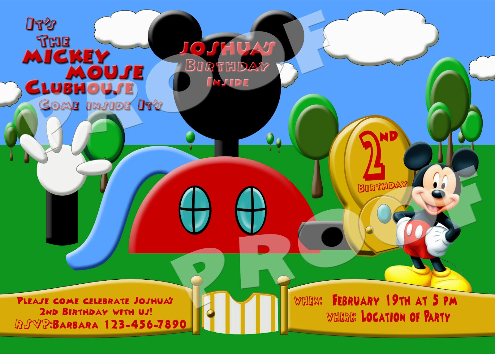 Fanci Prints by Tiffany: Mickey Mouse Clubhouse - Birthday Party Invitations