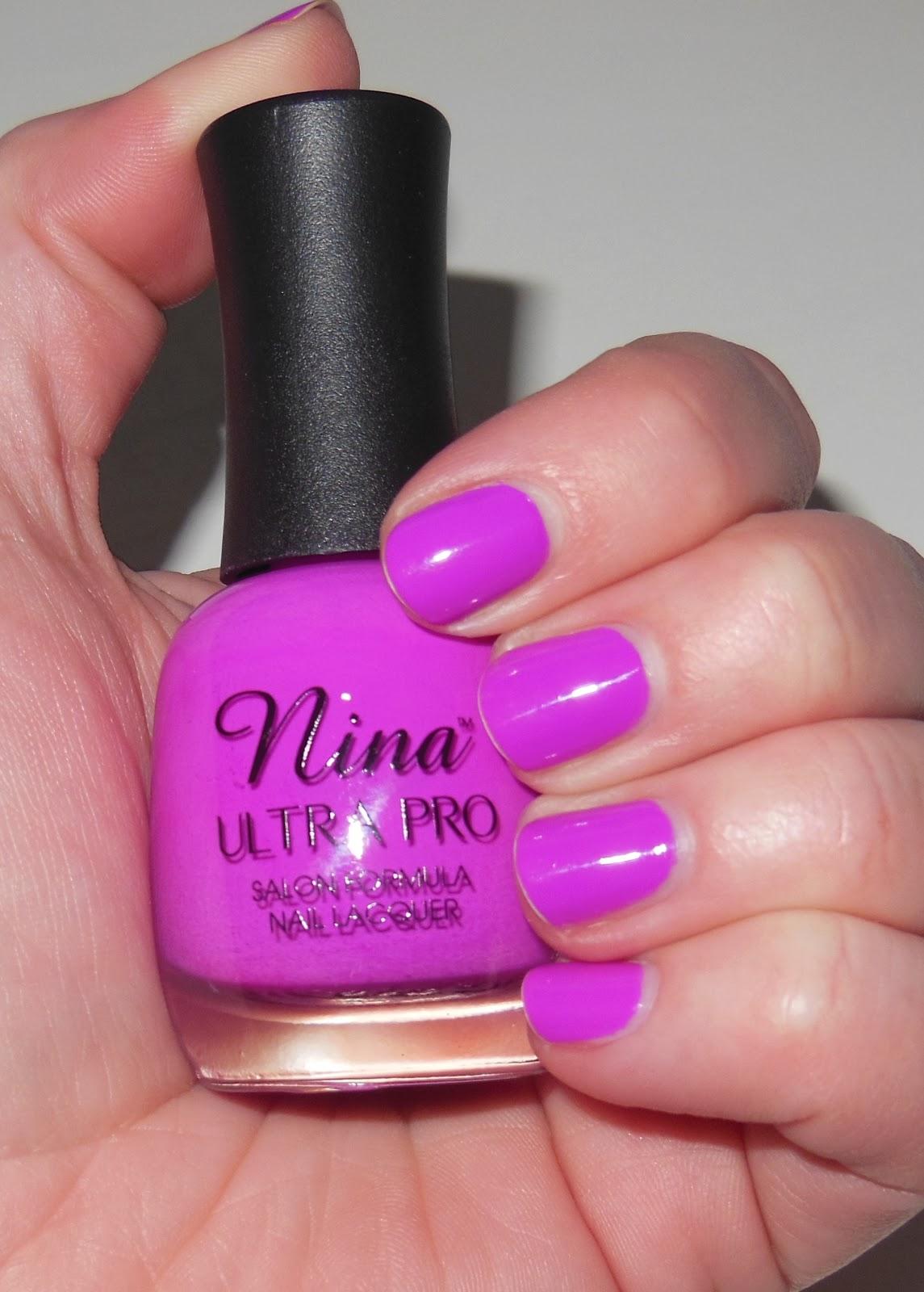 glambunctious!: REVIEW! | Nina Ultra Pro Nail Polish in Violet It Ride