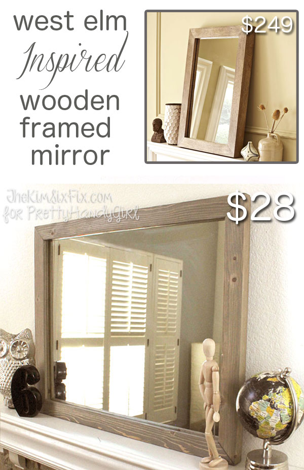 how to build a west elm inspired wooden framed mirror with. Black Bedroom Furniture Sets. Home Design Ideas