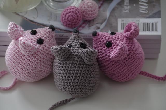 strikket mus opskrift
