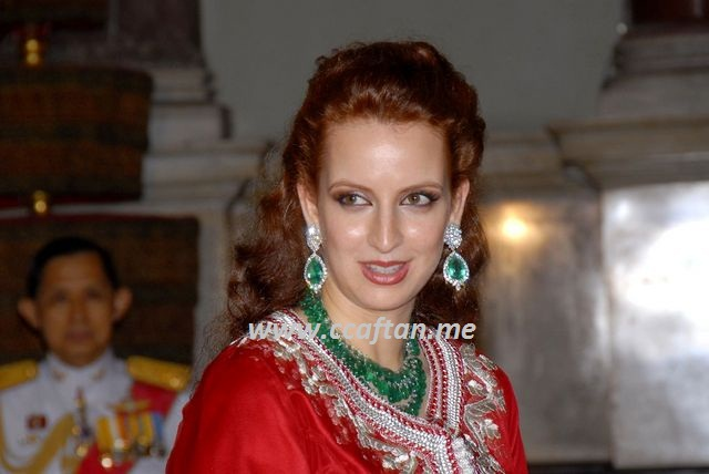 caftan royal rouge