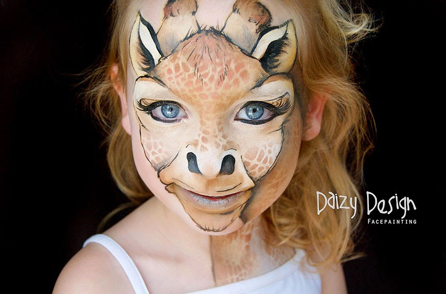 Simple Dog Face Paint Ideas Realistic Kids Painting