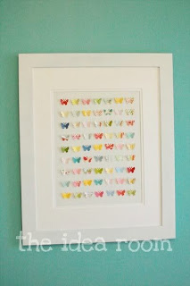 Paper Butterfly Wall Collage