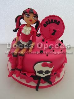 bolo aniversário monster high