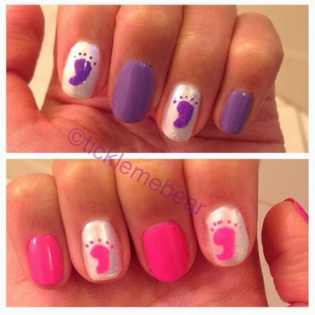 Nails Of The Week: Baby Shower   Itu0027s A Girl!