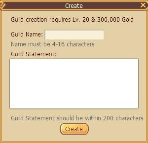Serenia Fantasy Guild system