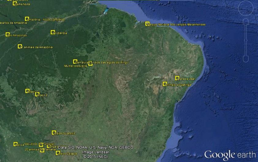 Apresentações direto do Google Earth