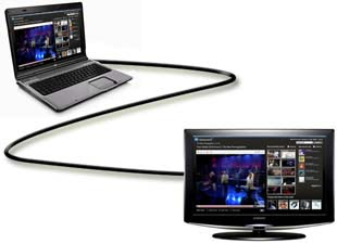 how to connect laptop to tv