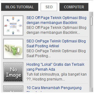 Membuat Widget Tab View Menu Tanpa Edit HTML