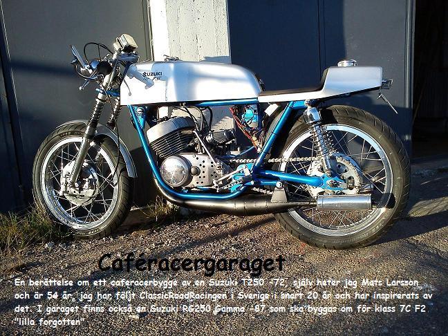 Caféracer av T250 och RG250 Gamma