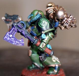 Kit Bashed Chaos Marine Sorcerer