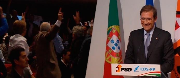 Passos Coelho e sessão da coligação PSD/CDS