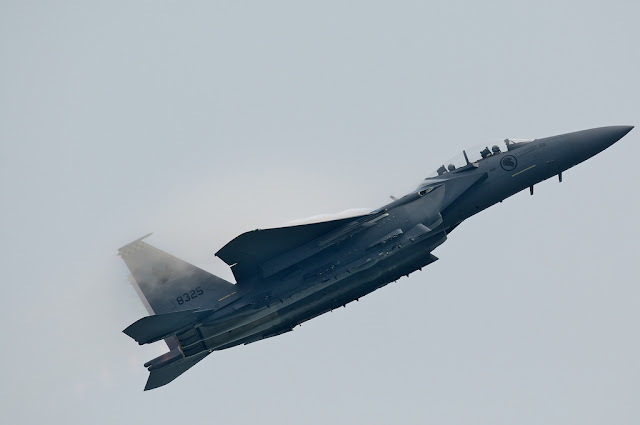 F-15 Strike Eagle climbing