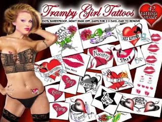 Trampy Girl Temporary Tattoos