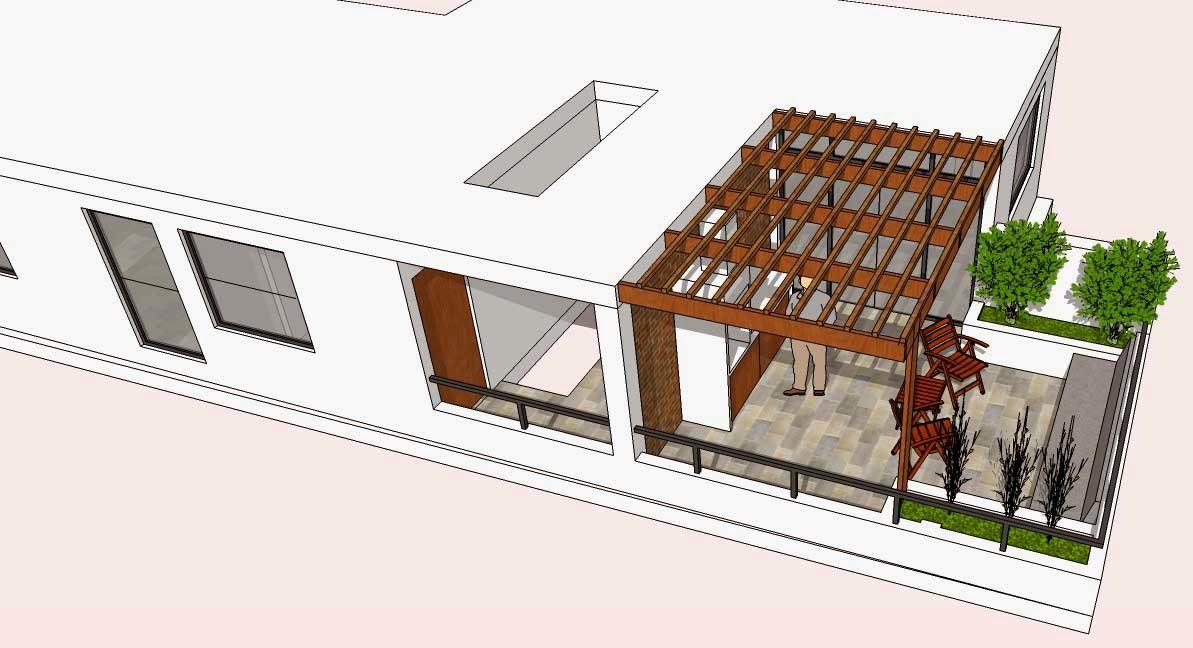 Oniria dise o previo terraza en departamento en tercer piso for Pisos con terraza en bilbao