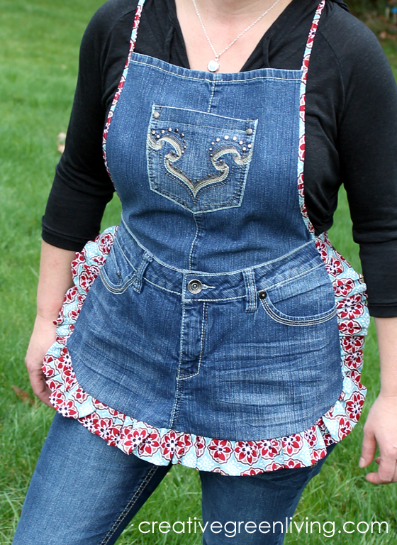 Broholo Cenk: Farm Girl Apron Tutorial from Recycled Jeans