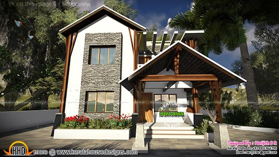 Sloping roof contemporary mix