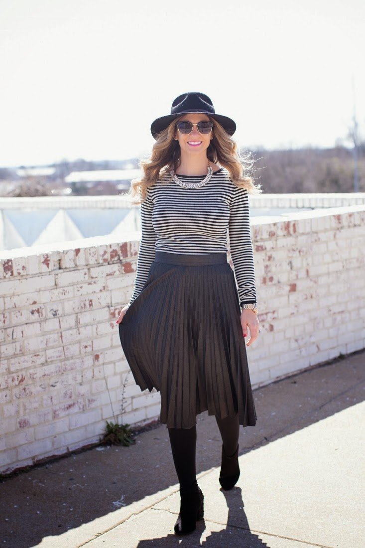 C.Z. Falconer striped sweater dress
