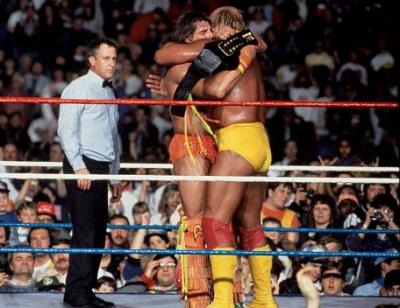 Historic Old School Wrestling Images Hogan+warrior