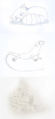 Disegni matita animali