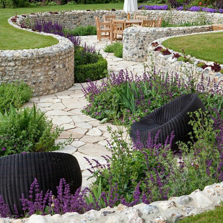 decorar jardim paisagismo moderno com pedras decora o e ideias. Black Bedroom Furniture Sets. Home Design Ideas