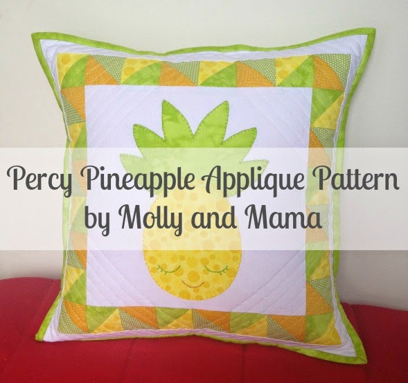 Percy Pineapple Applique Pattern by Molly and Mama