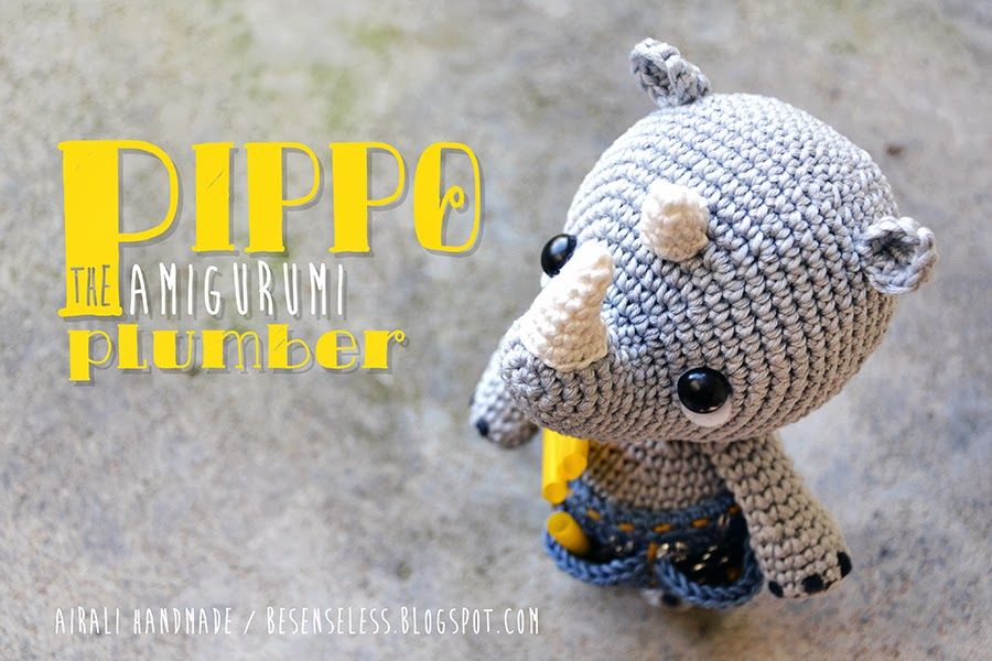 Amigurumi Rhino : Airali design. Where is the Wonderland? Crochet, knit and ...