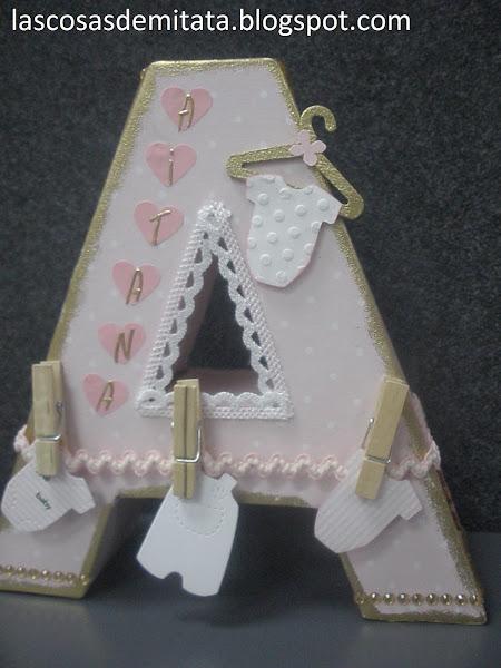 Letras decoradas - Letras habitacion bebe ...