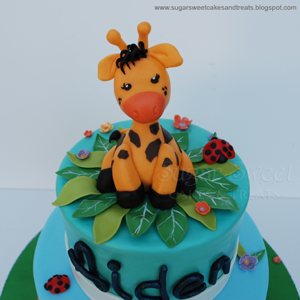 Giraffe Themed First Birthday Cake Sugar Sweet Cakes and Treats