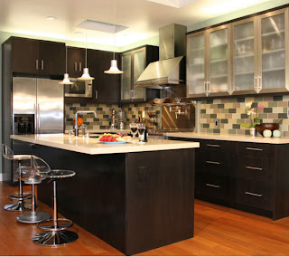 cocina limpia, cocina moderna, cocina contemporanea, cocina aseada, azulejos brillantes, azulejos limpios, cocina bonita, cocina elegante, cocina fina