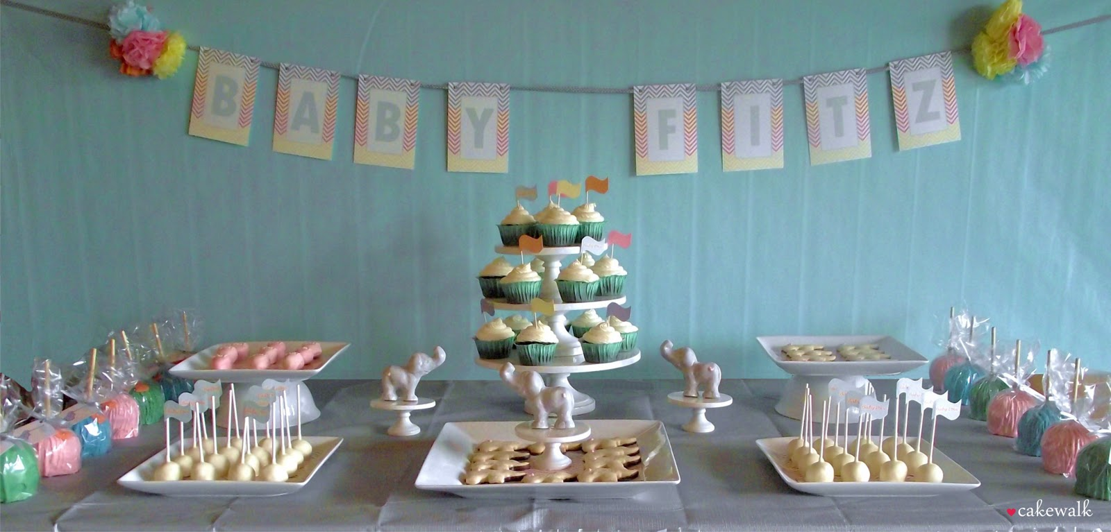 Elephant Baby Shower Dessert Table 1600 x 767