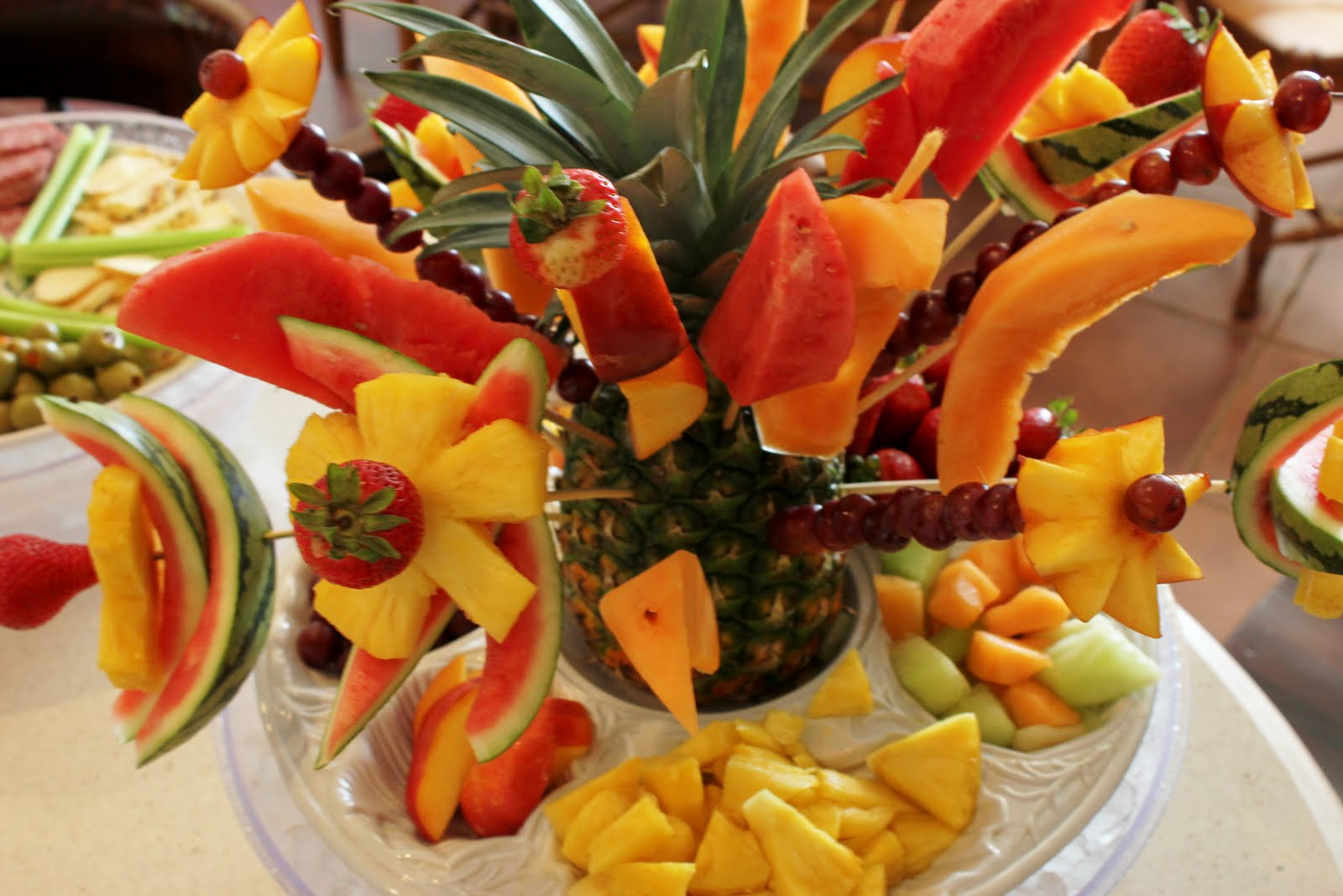 ... +Fruit+Art+Fruit+Flowers+Decorating Birthday Party Ideas Riverside Ca