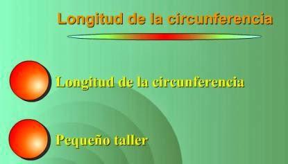 Longitud de la circunferencia.
