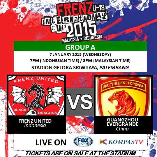 Frenz United Indonesia vs Guangzhou Evergrande FIC 2015