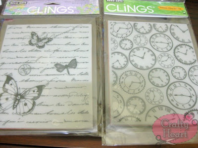 Hero Arts Cling Stamp - Antique Writing and Time to Stamp