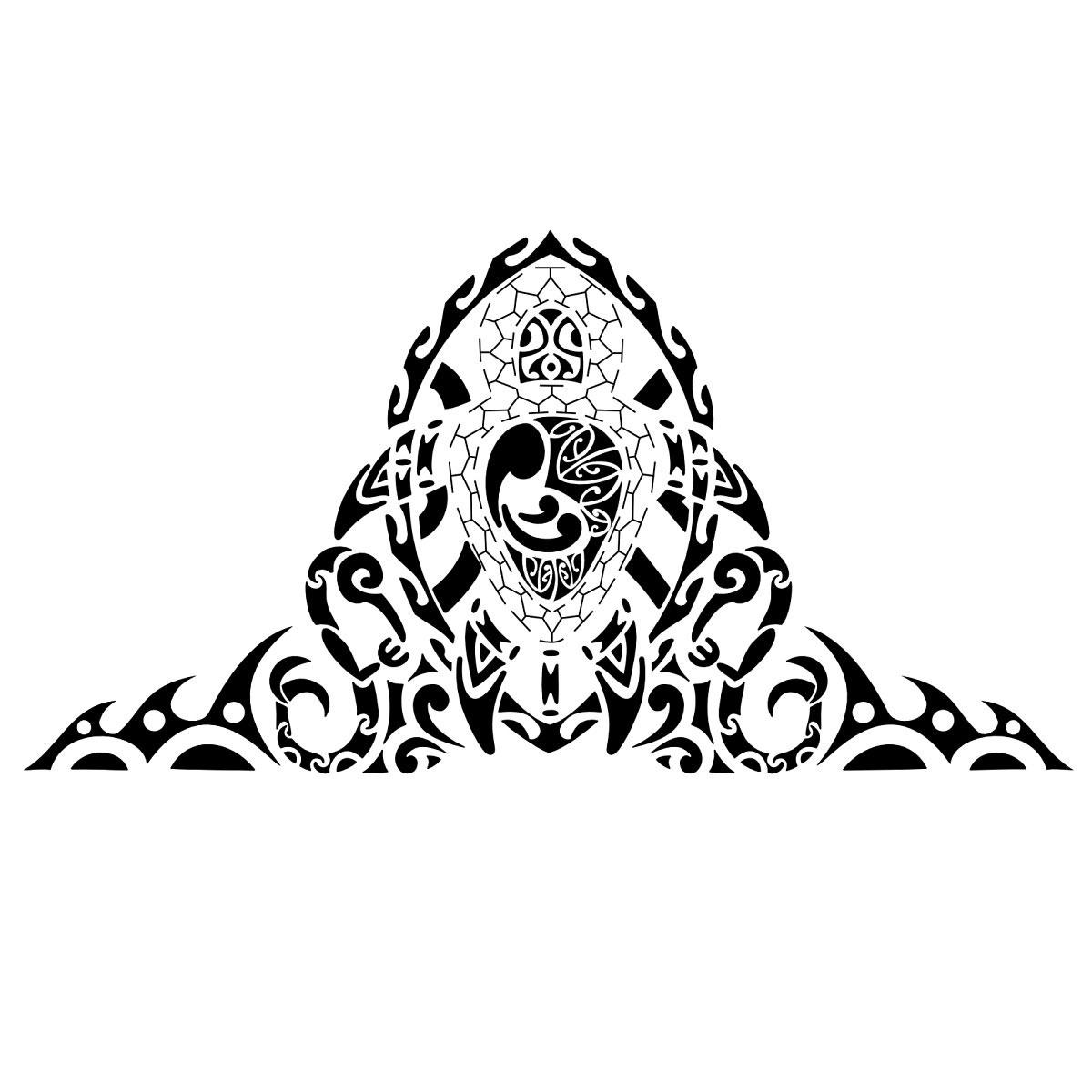 Blu sky tattoo studio maori significato 183 - Contorno squalo martello ...