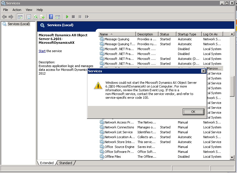 DAXperience: Dynamics AX 2012 R2 Fatal SQL condition during login
